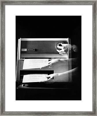 Xerox 813, The First Desktop Framed Print by Everett
