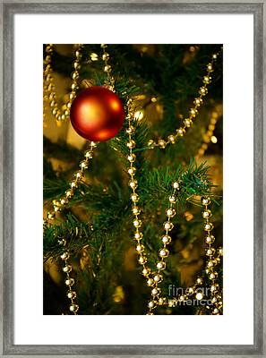 Xmas Ball Framed Print