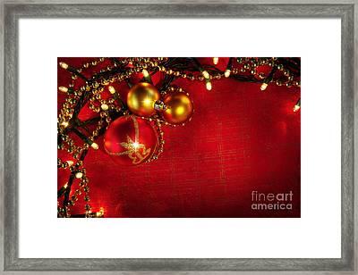 Xmas Frame Framed Print