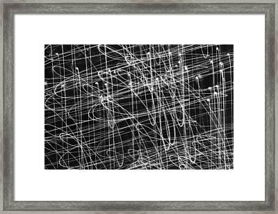 Xmas Lights - 1 Framed Print by Kevin Woolgar