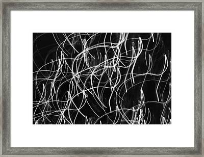 Xmas Lights - 3 Framed Print by Kevin Woolgar