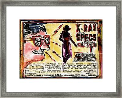 Xray Specs Framed Print by Russell Pierce
