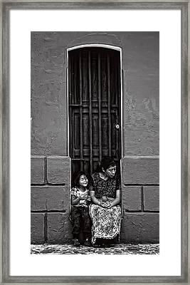 Y Sentada Ahi Permaneces Bw  Framed Print by Francesco Nadalini