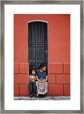 Y Sentada Ahi Permaneces Framed Print by Francesco Nadalini