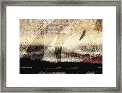 Yachats Eagle Framed Print by Carol Leigh