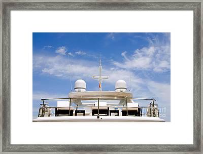 Yacht In Marbella Framed Print by Perry Van Munster