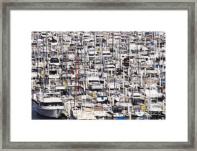 Yacht Marina Framed Print by Jeremy Woodhouse