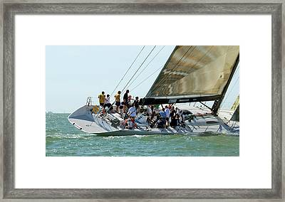 Yacht Racing At Cowes Week Framed Print