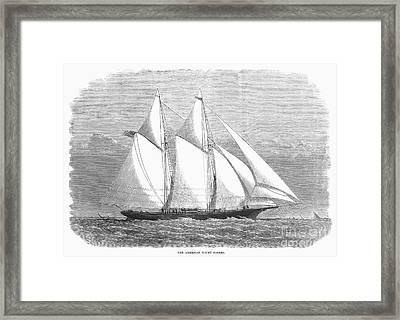 Yacht: Sappho, 1868 Framed Print by Granger