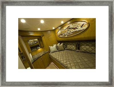 Yacht Woodwork Framed Print by Carey Chen