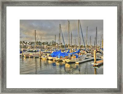Yachts On A Lazy Afternoon Framed Print