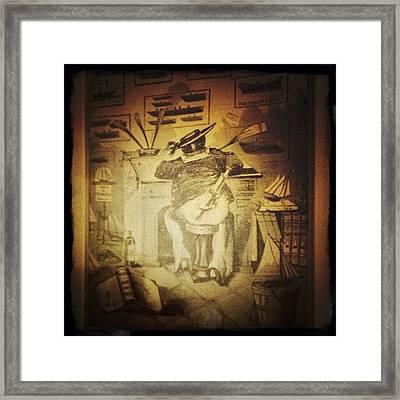Yachtsman Caricature Framed Print