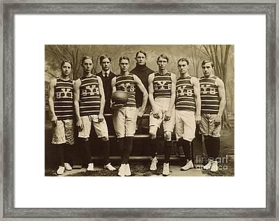 Yale Basketball Team, 1901 Framed Print by Granger