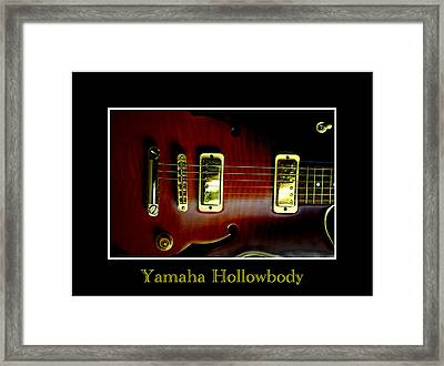 Yamaha Hollowbody 4 Framed Print