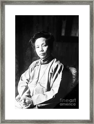 Yamei Kin, Chinese Doctor And Pioneer Framed Print