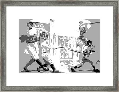 Yankee Greats Poster Framed Print by Adam Barone
