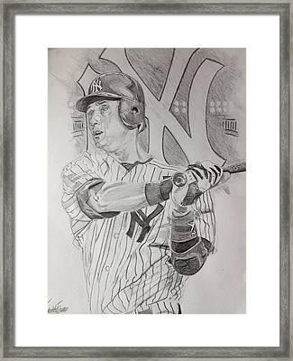 Yankee Pride Derek Jeter  Framed Print