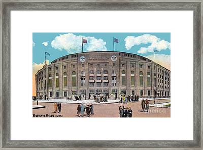 Yankee Stadium C.1930 Framed Print by Dwight Goss