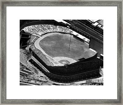 Yankee Stadium On Labor Day. 20,000 Framed Print by Everett