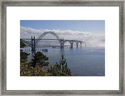 Framed Print featuring the photograph Yaquina Bay Bridge by Mick Anderson