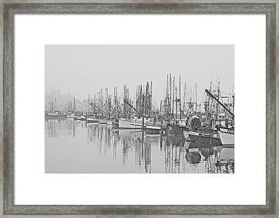 Yaquina Bay Harbor   Newport Oregon Framed Print