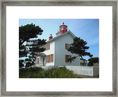 Yaquina Bay Lighthouse Newport Framed Print