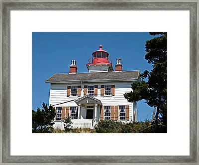 Framed Print featuring the photograph Yaquina Bay Lighthouse by Nick Kloepping