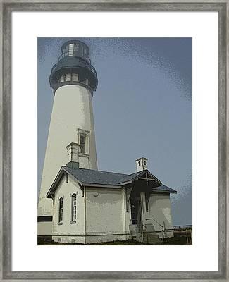 Yaquina Head Lighthouse Newport Oregon Framed Print