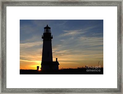 Yaquina Lighthouse Framed Print by Bob Christopher