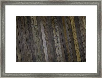 Yardsticks - Aged 18 Inch Closer 1 Framed Print by Kurt Olson
