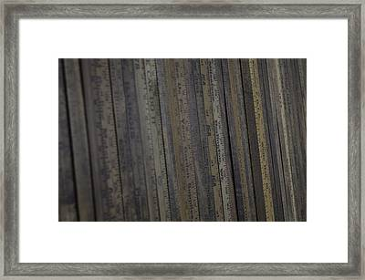 Yardsticks - Aged 18 Inch Closer 21 Framed Print by Kurt Olson