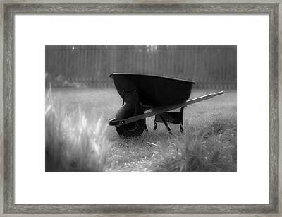 Yardwork Framed Print by Lori Coleman