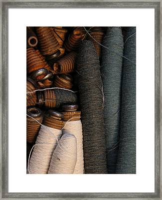 Yarn And Bobbins Framed Print by Odd Jeppesen