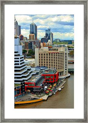 Yarra River City Block Of Primary Colors Framed Print