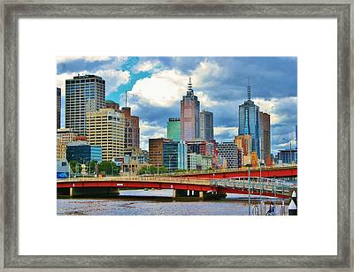 Yarra River City View Framed Print
