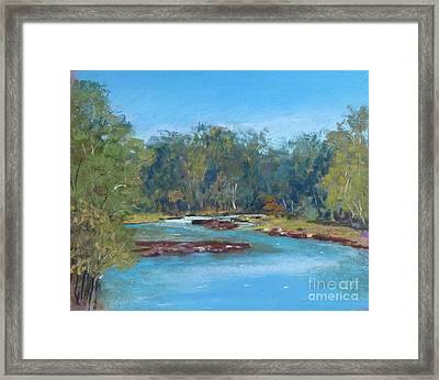 Yarra River Warrandyte Framed Print by Nadine Kelly