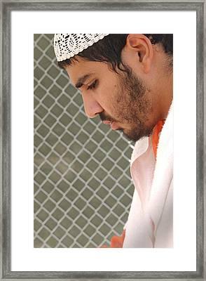 Yasser Esam Hamdi A Prisoner At Camp Framed Print