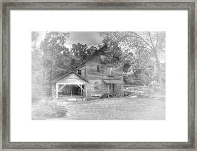 Yates Mill Black And White Framed Print by Joe Granita
