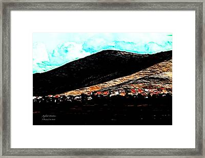 Ye Mountains Of Gilboa  Framed Print by Itzhak Richter