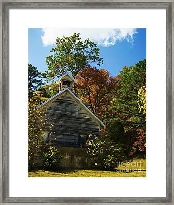Framed Print featuring the photograph Ye Old Schoolhouse by Julie Clements