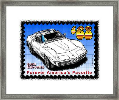 Year-by-year 1968 Corvette Framed Print