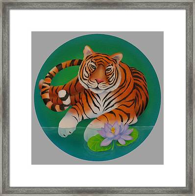 Year Of The Tiger Framed Print by Marcia  Perry