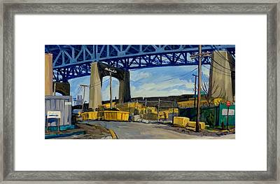 Yellow And Blue Brooklyn Framed Print by Thor Wickstrom