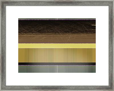 Yellow And Brown Planes Framed Print by Naxart Studio