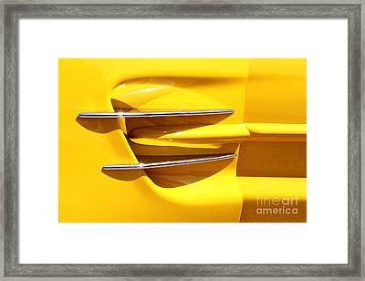 Yellow And Chrome Framed Print by Dennis Hedberg