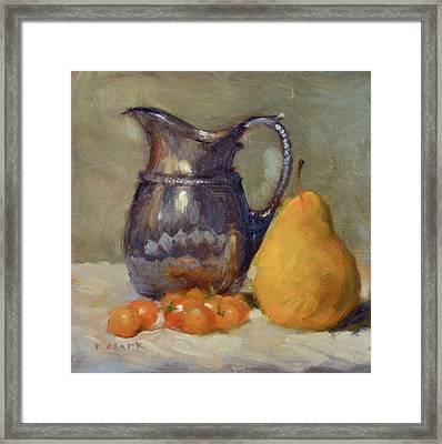 Yellow And Orange Framed Print