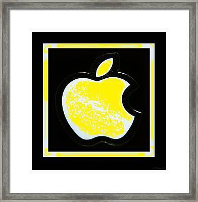 Yellow Apple Framed Print