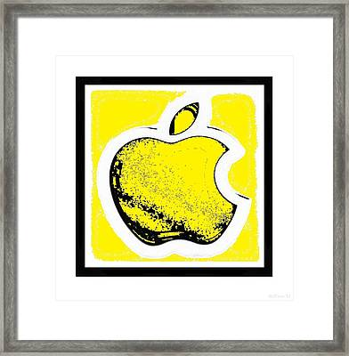 Yellow Apple With Yellow Framed Print