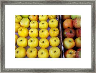 Yellow Apples Framed Print by Carlos Caetano