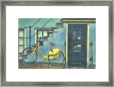 Yellow Bike Framed Print